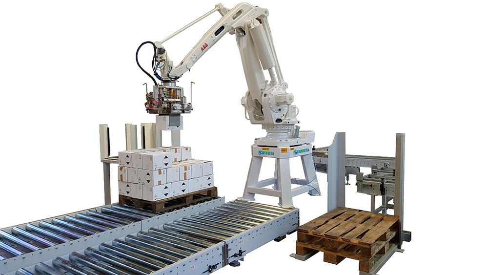 Isola Pallettizzazione Con Robot Antropomorfo