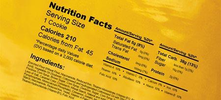 Stampa Tabella Nutrizionale Con Smartdate X65 128
